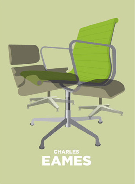 Prints VP - Charles Eames Chair in Green
