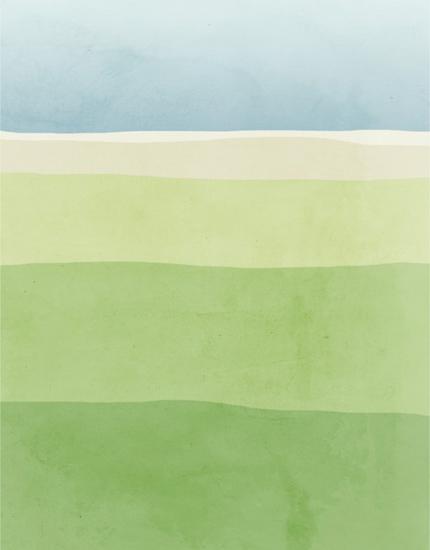 Prints ES - Landscape Green and Blue II